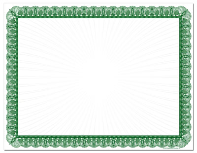 Green Value Certificates - 25 pack