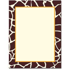 Giraffe Letterhead - 80 pack