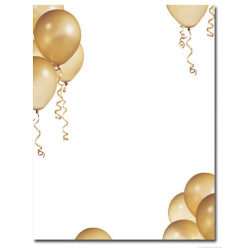 Gold Balloons Letterhead