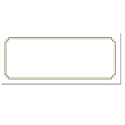 Gold Border Envelopes