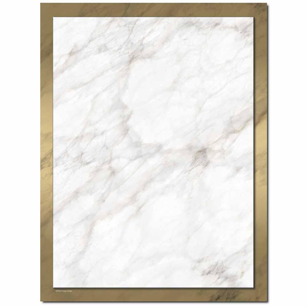 Gold Marble Letterhead - 100 pack
