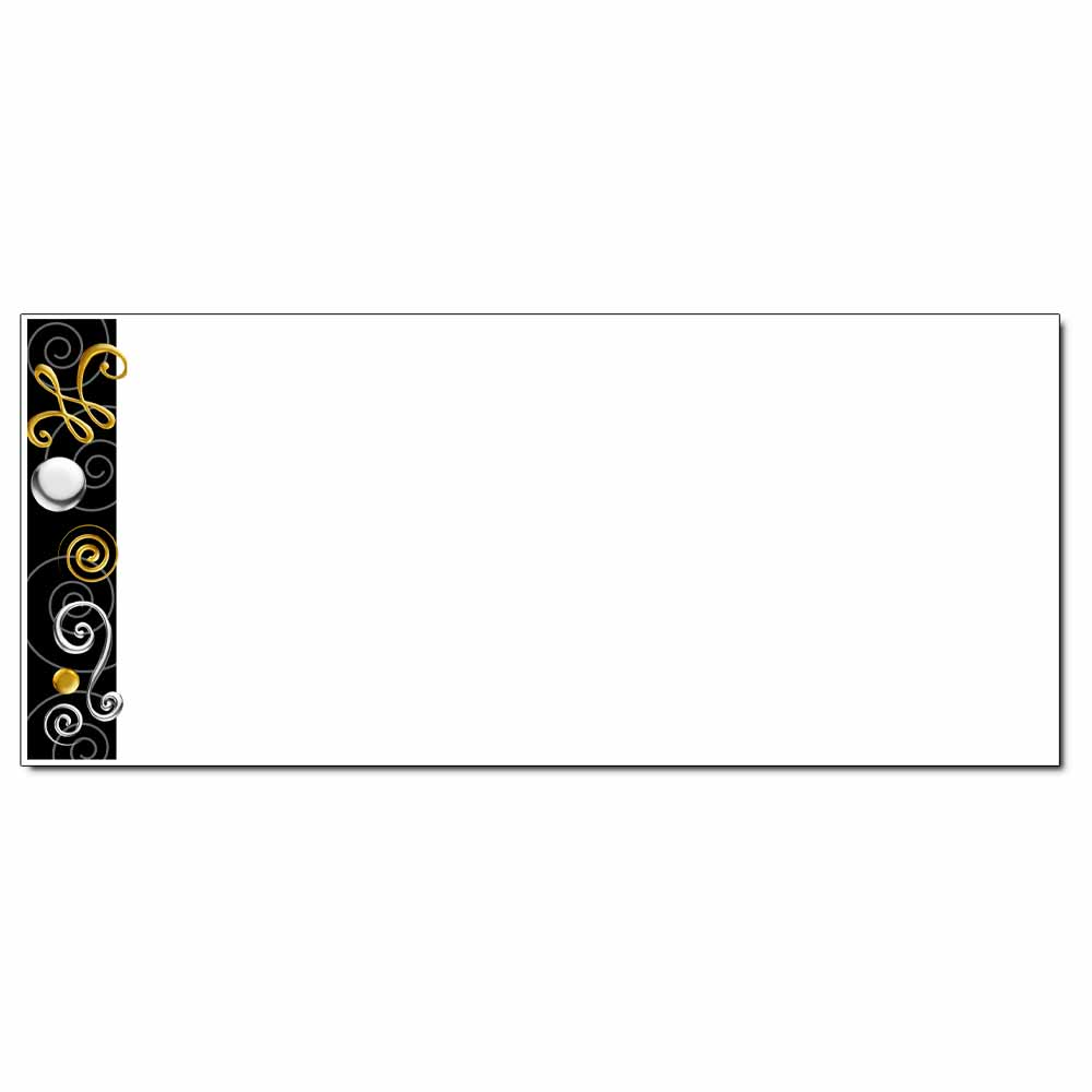 Gold & Silver Swirls Envelope - 25 Pack
