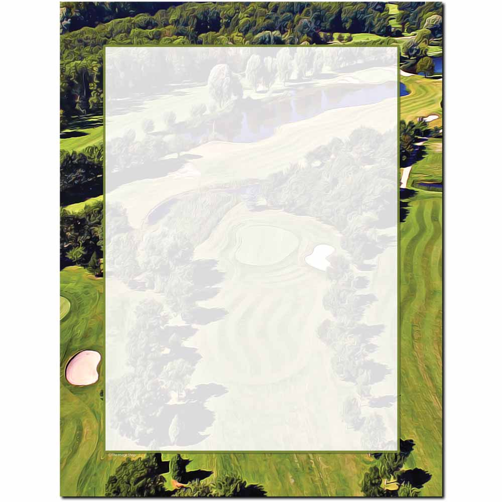 Golf Course Letterhead - 100 pack