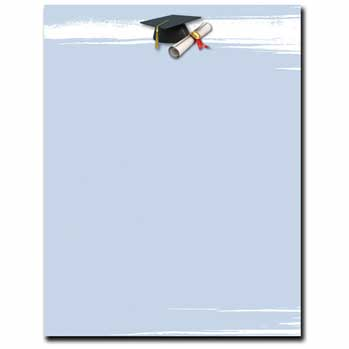 Graduation Brush Letterhead