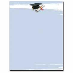 Graduation Brush Letterhead
