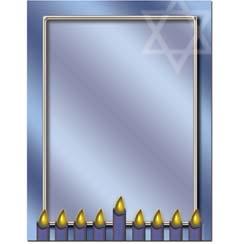 Hanukkah-Menorah-Candles-Letterhead-Paper
