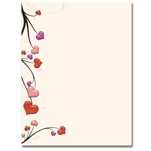 Heart Vines Stationery