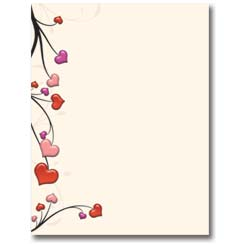 Valentine S Day Stationery Romantic Letter Paper