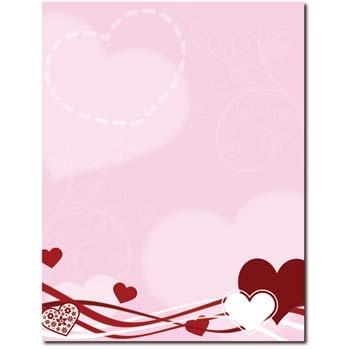 Hearts & Swirls Letterhead