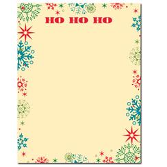Ho Ho Ho Letterhead - 25 pack