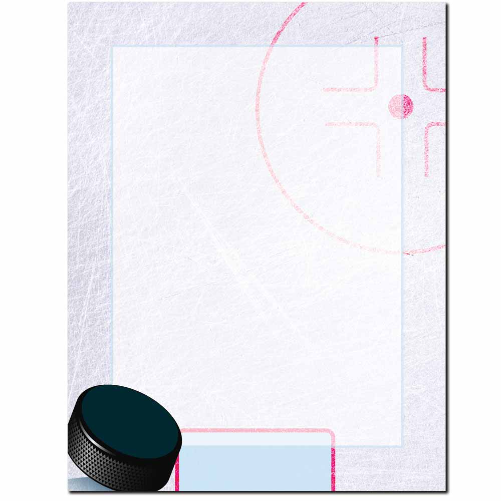 Hockey Puck Letterhead - 100 pack