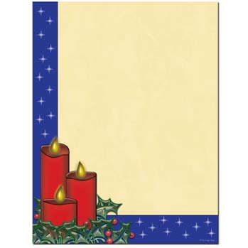 Holiday Candles Letterhead