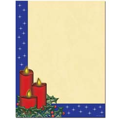 Holiday Candles Letterhead - 100 pack