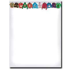 Holiday Sweater Letterhead - 25 pack