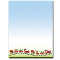 Holiday Train Letterhead - 25 pack