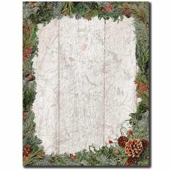 Holiday Wreath Letterhead
