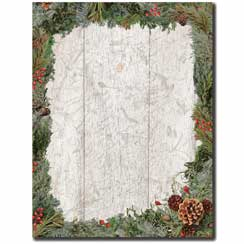 Holiday Wreath Letterhead - 100 pack