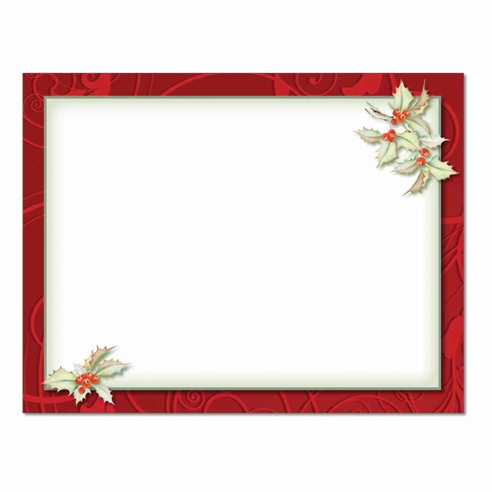 holly border post card 48pk post cards the image shop