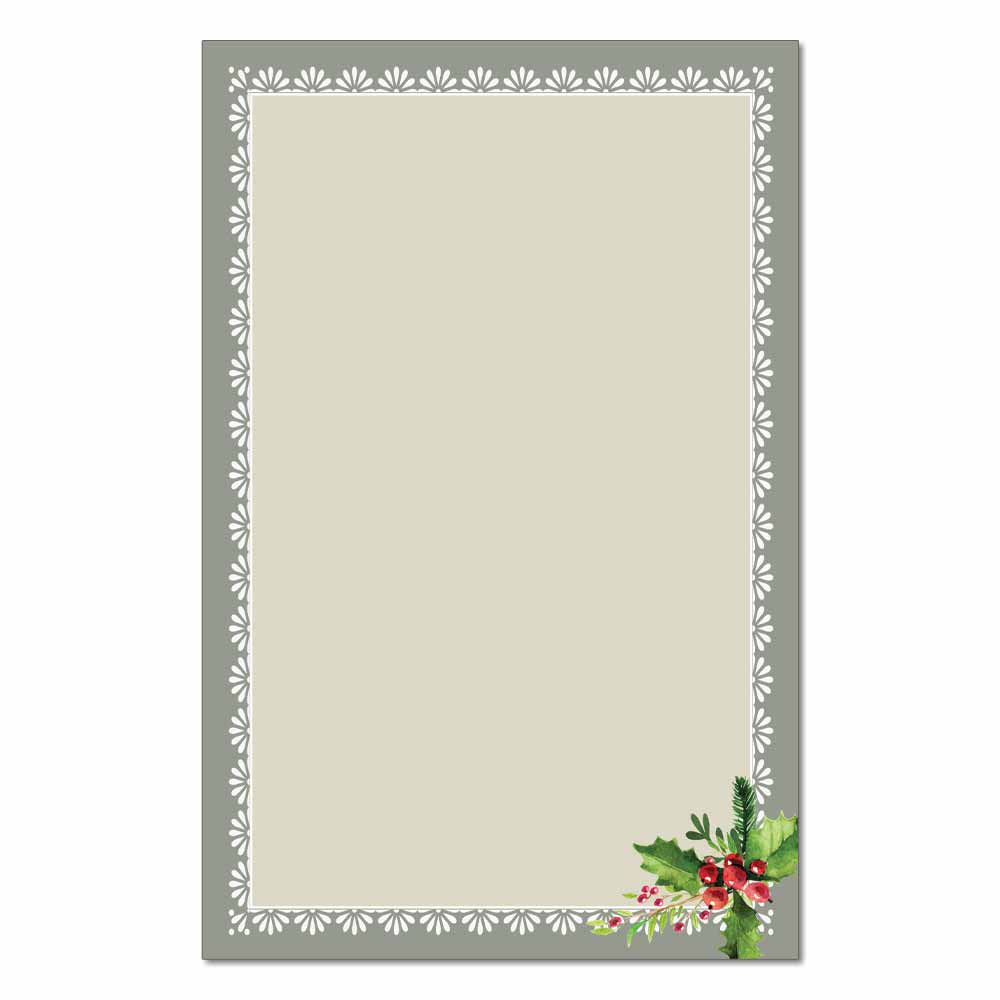 Holly Frame Jumbo Cards, 48pk
