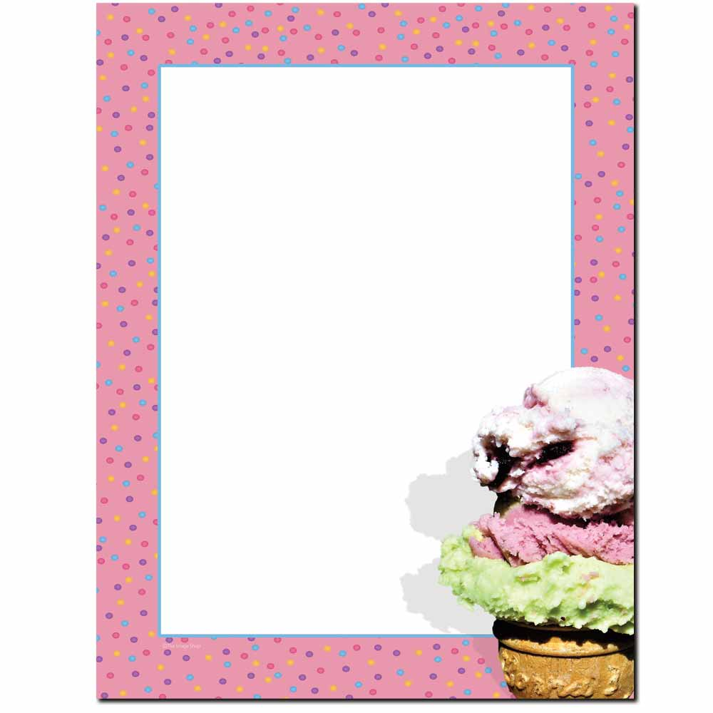 Ice Cream Cone Letterhead
