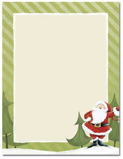 Jolly Santa Claus Letterhead - 80 pack