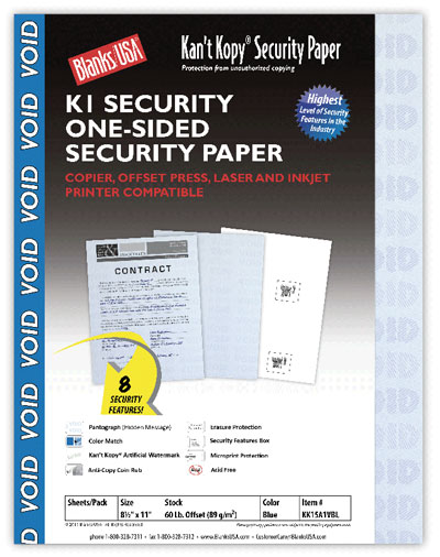 Security Paper - 2500 Pack