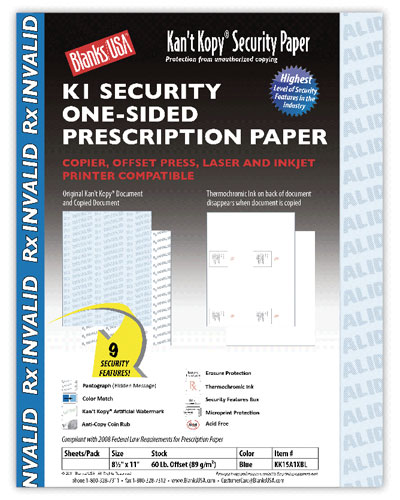 Security Prescription Paper - 500 Pack