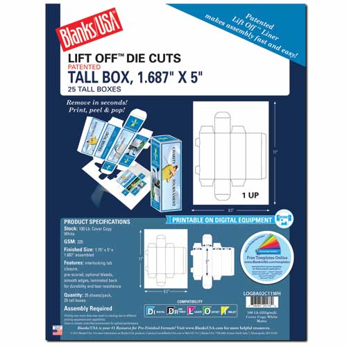 Tall Box W/Tab Closures