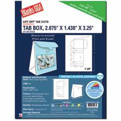 Tab Box Die Cut W/Tab Closures