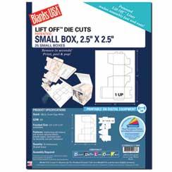 Small Box Die Cut W/Tab Closures