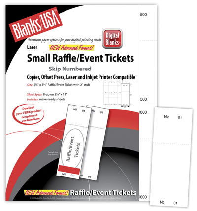Small Raffle Tickets, Bristol - 400pk