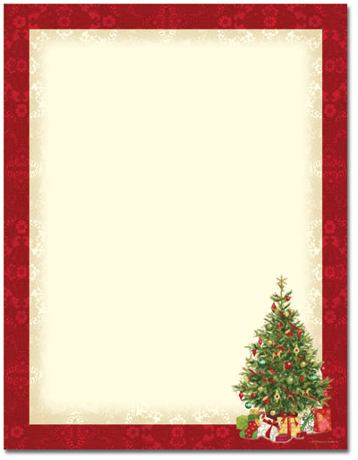 Lacy Tree Letterhead - 80 Pack