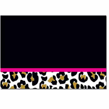 Leopard Print Thank You Note Card