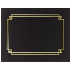 Linen Cert. Cover Black