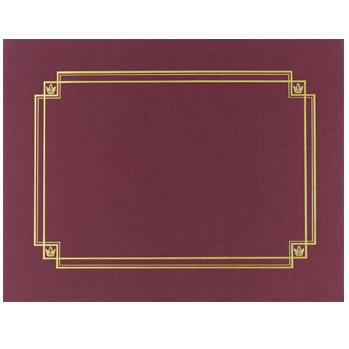 Linen Cert. Cover Burgundy
