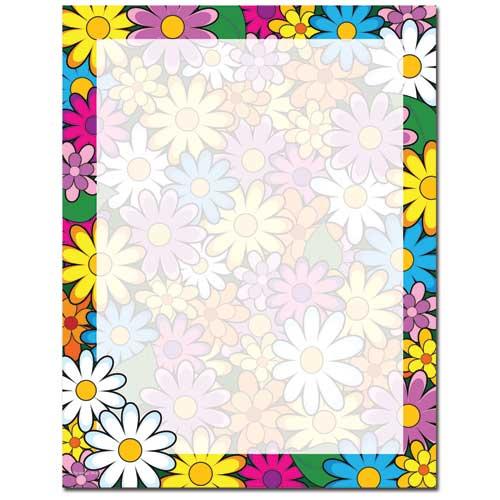 Lotsa-Daisies-Letterhead-Flowers-Paper