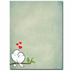 Love Birds Letterhead - 25 pack