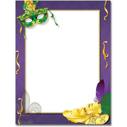 mardi-gras-paper-letterhead