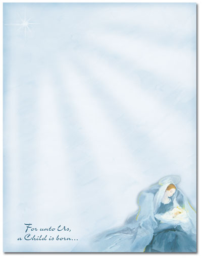 Mary With Baby Jesus Letterhead