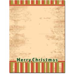 Merry Stripes Letterhead - 25 pack