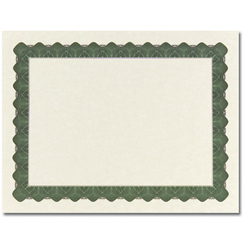 Metallic Green Certificate - 100 Pack
