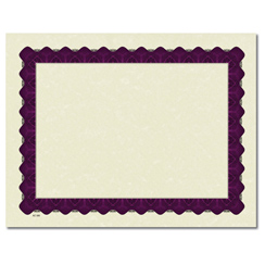 Metallic Purple Certificate