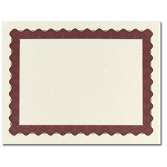 Metallic Red Certificate - 25 Pack