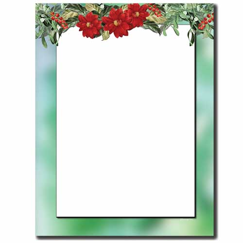 Mistletoe-Garland-Holiday-Letterhead-Paper