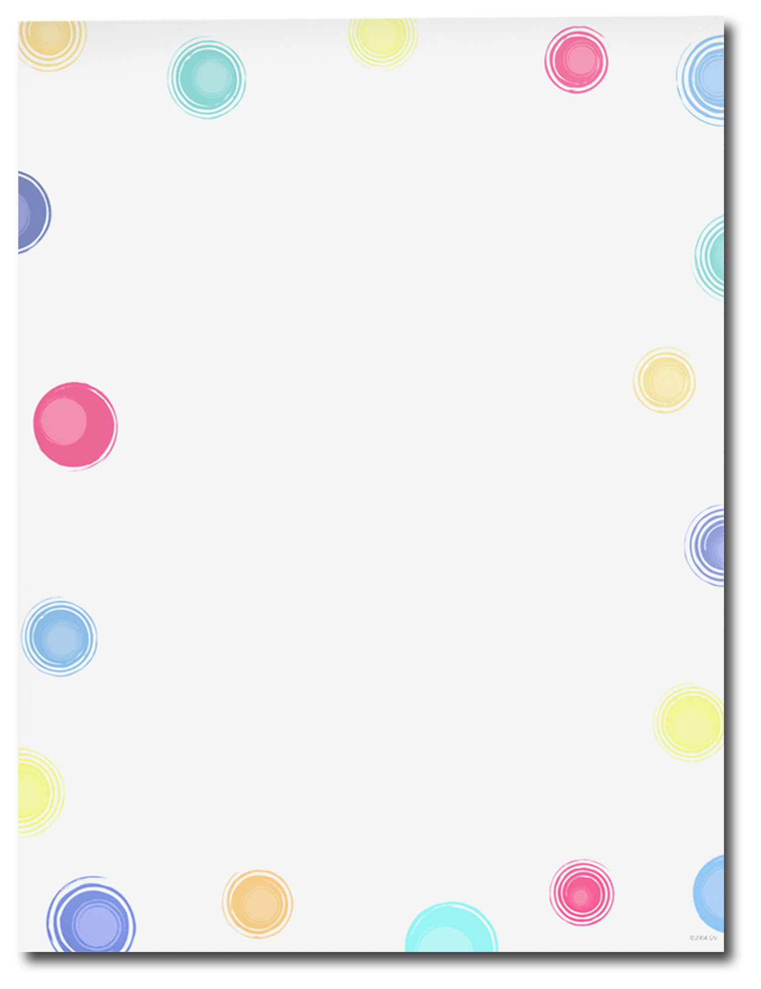 Multi Colored Dots Letterhead - 25 pack