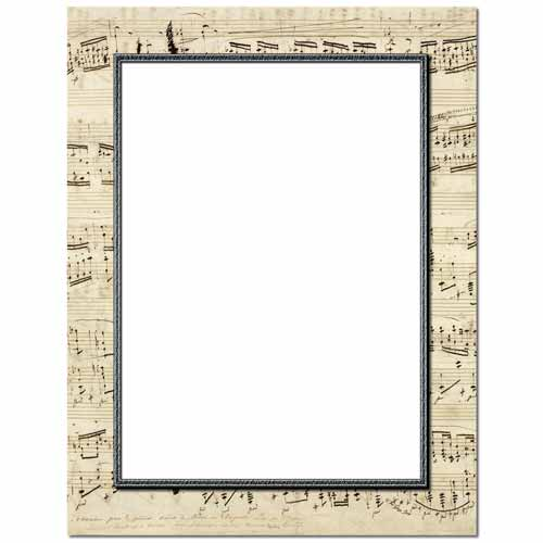 Musical Border Letterhead