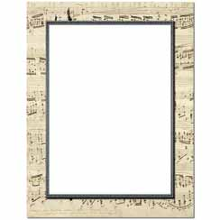 Musical Border Letterhead - 25 pack