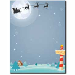 North Pole Letterhead - 100 pack