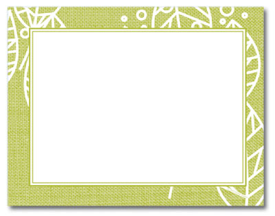 Organic Citrus Leaves Post Cards