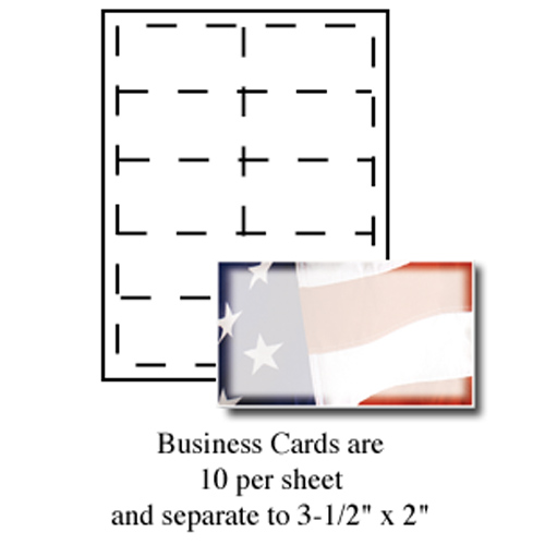 Old Glory Business Cards